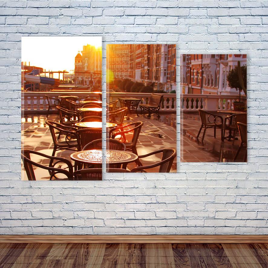"""Модульная картина """"Кафе. Уютная терраса"""""""