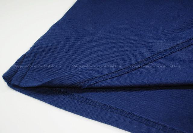 Тёмно-синее мужское поло 100% хлопок
