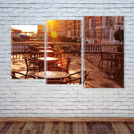 """Модульная картина """"Кафе. Уютная терраса"""", фото 2"""