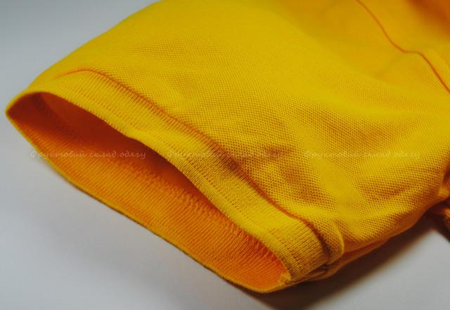 Солнечно-жёлтое мужское поло 100% хлопок