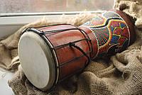 Барабан расписной с кожей (30Х16.5Х16.5 СМ)