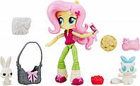Мини-кукла Флаттершай My Little Pony Equestria Girls Minis + аксессуары (В6358)