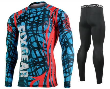 Комплект Рашгард Fixgear и компрессионные штаны CFL-H2+FPL-BS, фото 2