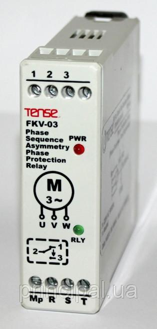 Реле контроля фаз устройство защиты 3-х фазного электродвигателя последовательность фаз цена купить