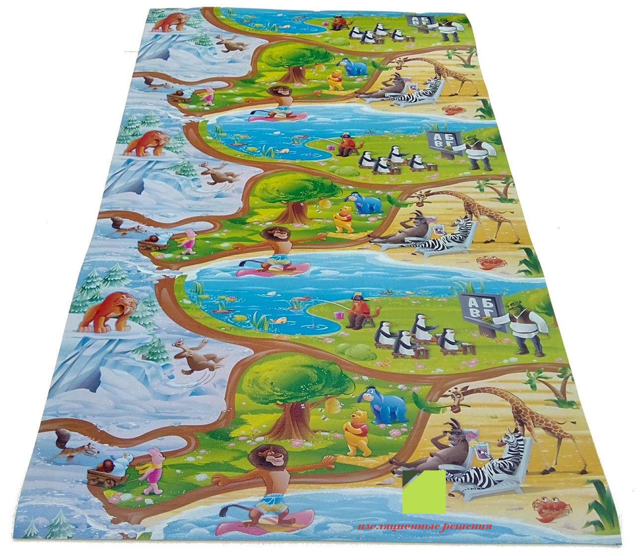 Детский игровой коврик Мадагаскар  2.5 м на 1,2 м 8 мм толщиной