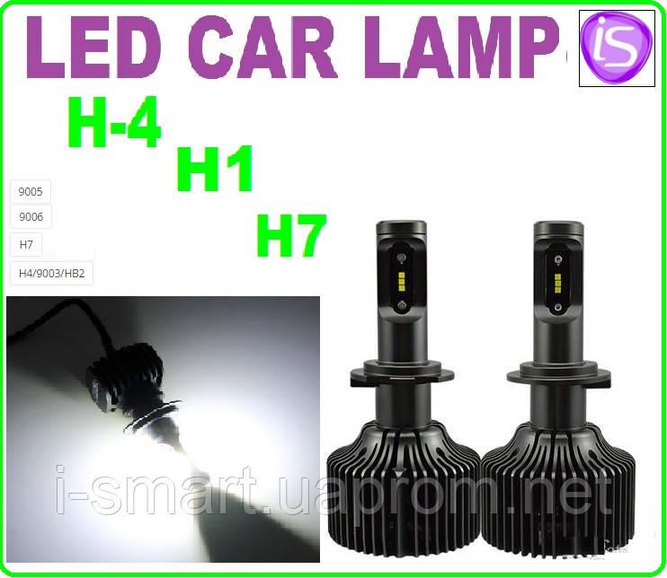 Автолампа LED H3 (9003) HB2, 8000LM, 6500K, 25W, 9-32V