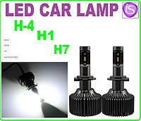 Автолампа LED H3 (9003) HB2, 8000LM, 6500K, 25W, 9-32V, фото 1