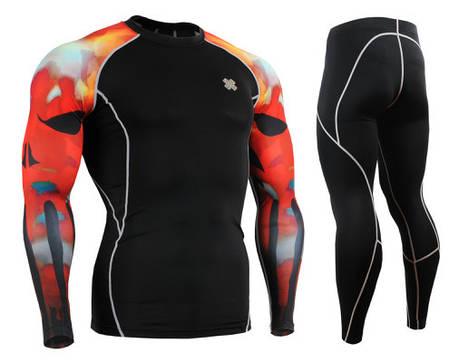 Комплект Рашгард Fixgear і компресійні штани CPD-B64R+P2L-BS, фото 2