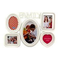 Мультирамка 6FWD1, 5 фотографий, «Family», белая
