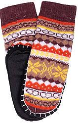 Носки тапочки детские LOOKeN Ромб Коричневый