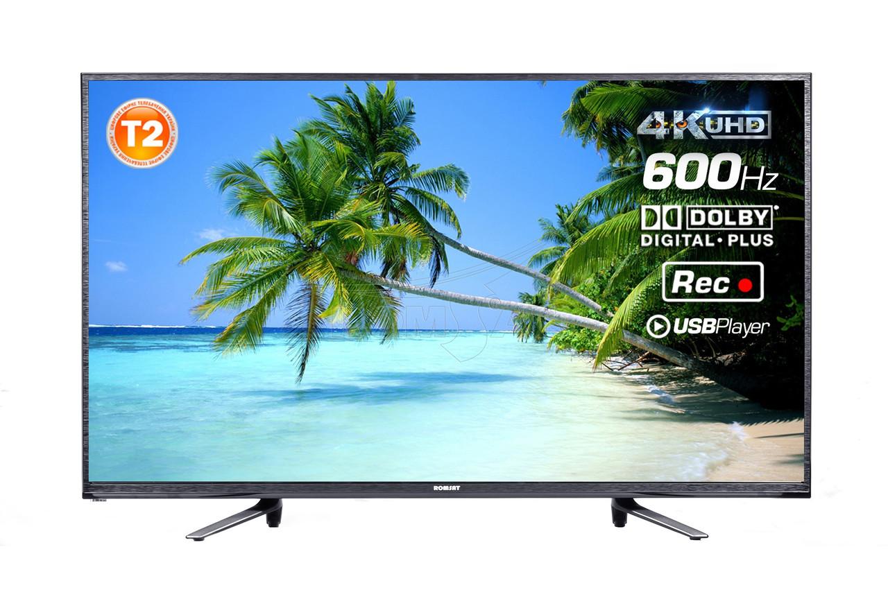 "Телевизор 55"" T2 4K UHD 3840×2160 USB HDMI Romsat 55UMT16512T2, фото 1"