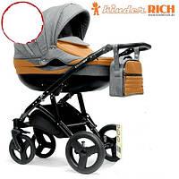 Универсальная коляска 2 в 1 Kinder Rich Blaze Denim Grey