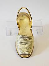 Женские золотые босоножки Presso 11/472, фото 2