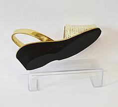 Женские золотые босоножки Presso 11/472, фото 3