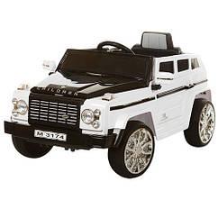 Детский электромобиль Джип Bambi Land Rover Discovery M 3174 EBR-1, колеса EVA,MP3,USB,белый