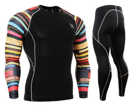 Комплект Рашгард Fixgear и компрессионные штаны CPD-B33+P2L-BS, фото 2