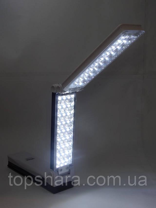 Настольный аккумуляторный фонарь Yajia YJ-6830TP, светодиодный светильник на 57 Led, белая