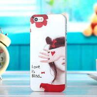 """Пластиковый чехол """"Love is blind"""" для iPhone 4/4S"""