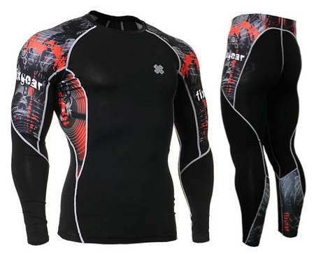 Комплект Рашгард Fixgear и компрессионные штаны C2L-B30+P2L-B30, фото 2