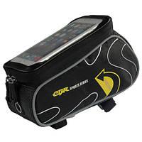 Сумка на раму для телефона CBR 6.0 дюймов - черно-желтая