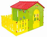 Детский игровой пластиковый домик для дачи Садовый Mochtoys, артикул 10425