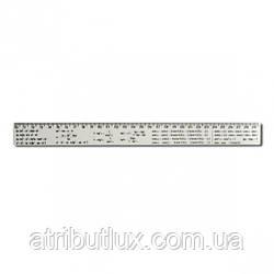 Линейка 30 см, пластиковая Алгебра