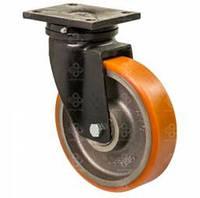 """Колесо поворотное усиленное """" """"Hard"""" с крепёжной панелью,диаметр-200мм"""