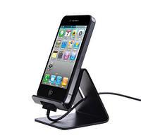 Настольная металлическая черная подставка для iPhone/iPad