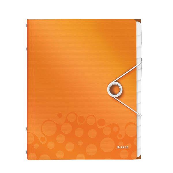 Папка с разделителями ПП WOW, 12 разделителей, оранжевый металлик46340044