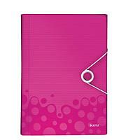 Папка с отделениями ПП WOW, розовый металлик45890023