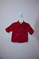 Рубашка бордовая 104 см, длинный рукав на мальчика 4 года Турция детская Terry, красная