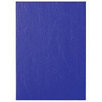 Обложка, текстура  кожа  250г., синий33663