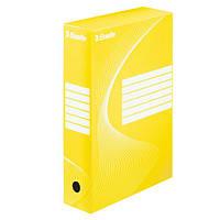 Архивные боксы Boxy 80 мм, емкость 800 листов, желтый128413