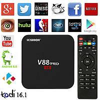Смарт ТВ приставка Smart TV V88 PRO Android 6.0 4-х ядерный 2 ГГц  ЛУЧШЕ CS918  тв бокс