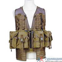 Разгрузочный жилет Tasmanian Tiger Ammunition Vest р.L cub/flecktarn/khaki Кирпичный L