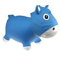 Прыгун «KidzzFarm» (KFPO130203) лошадка Гарри, цвет голубой с белым (с насосом)