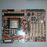 Материнская плата ABIT KV8 Pro, 1xS754, 2xDDR DIMM, AGP, AC'97, 5.1, Ethernet: 100 Мбит/форм-ATX б/у