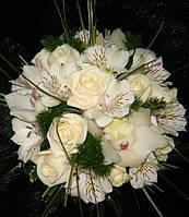 Букет свадебный «бургундия»