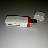 Card Reader внешний USB 2.0  Transcend  microSD/M2/MS/DUO/HG
