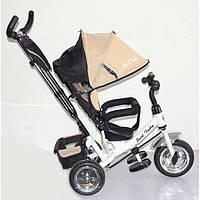 Детский трёхколёсный велосипед Best Trike, бежевый