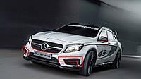 Спойлер верхние накладки на передний AMG бампер Mercedes GLA GLA45 2014-17 Новые Оригинальные