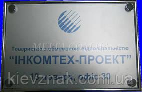 Таблички из алюминия, сублимационная печать с рамкой или декоративными крепежами