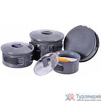 Набор посуды из анодированого алюминия на 4-5 персон(профилированное дно) Tramp TRC-035