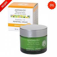 Восстанавливающий крем с пробиотиками и Витамином С Andalou Naturals,50 мл