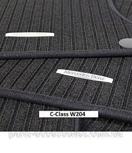 Репсові килимки в салон чорні Mercedes C-Class W204 2007-14 Нові Оригінальні