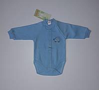 Боди с длинным рукавом детский голубой Бемби 56 см