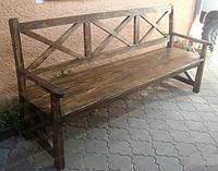 Лавка деревянная под старину ЛОРД для дома, кафе и ресторана (120 см)