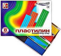 Пластилин  Классика   8 цв. 160 г 12С867-08, со стеком540223