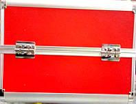 Чемодан металлический раздвижной красный 2629 YRE