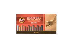 Мел-пастель Koh-i-Noor T D'OR 12 шт коричневые оттенки 1530 8522012002BR